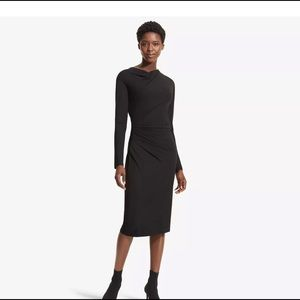 M.M. LAFLEUR black ANNABEL drape dress